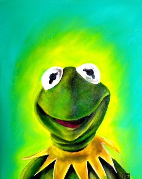 Kermit the Frog Art Print Muppets The Muppet Show Artwork pop Art on Etsy, $20.00