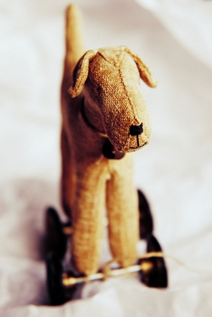pup pull toy--mostly like the idea of creating pull toy versions of my stuffed animals. This would work great for the elephants.