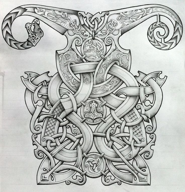 Viking and Oseberg influenced knotwork design by Tattoo-Design on DeviantArt