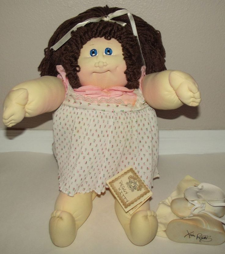Vtg 1984 Xavier Roberts THE LITTLE PEOPLE Soft sculpture Cabbage Patch Doll #CabbagePatchKids #DollswithClothingAccessories