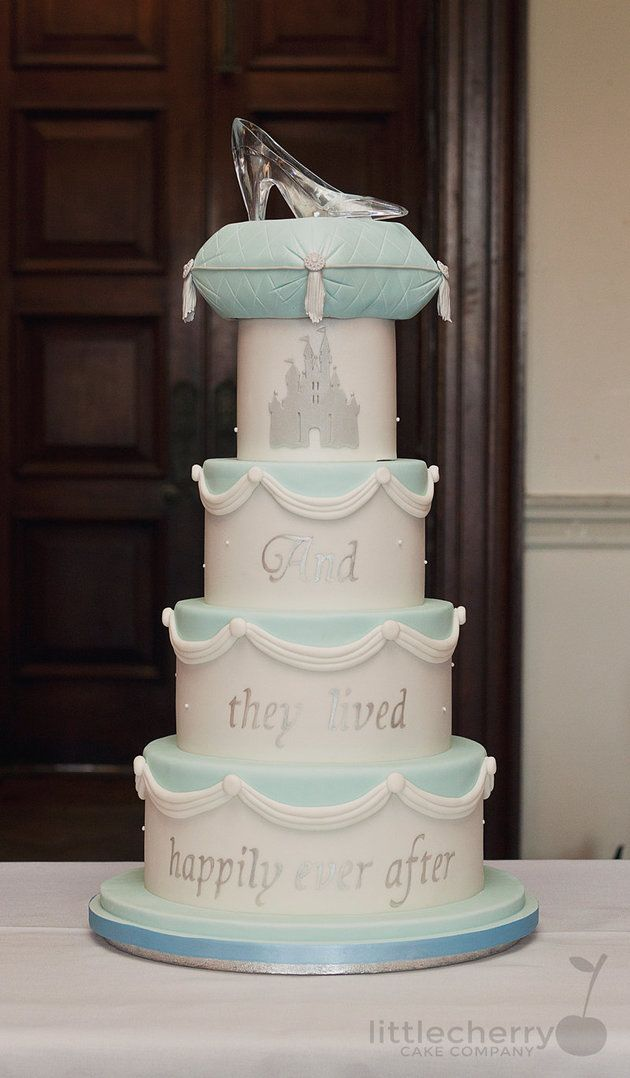 cinderellthemed wedding scroll invitations%0A    Magical DisneyInspired Cakes For The Ultimate Fairytale Wedding   The  Huffington Post  Cinderella