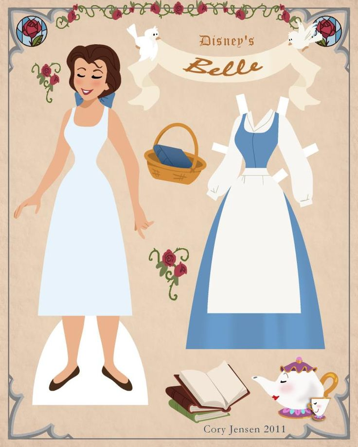 belle paper doll 1 | paper dolls by cory