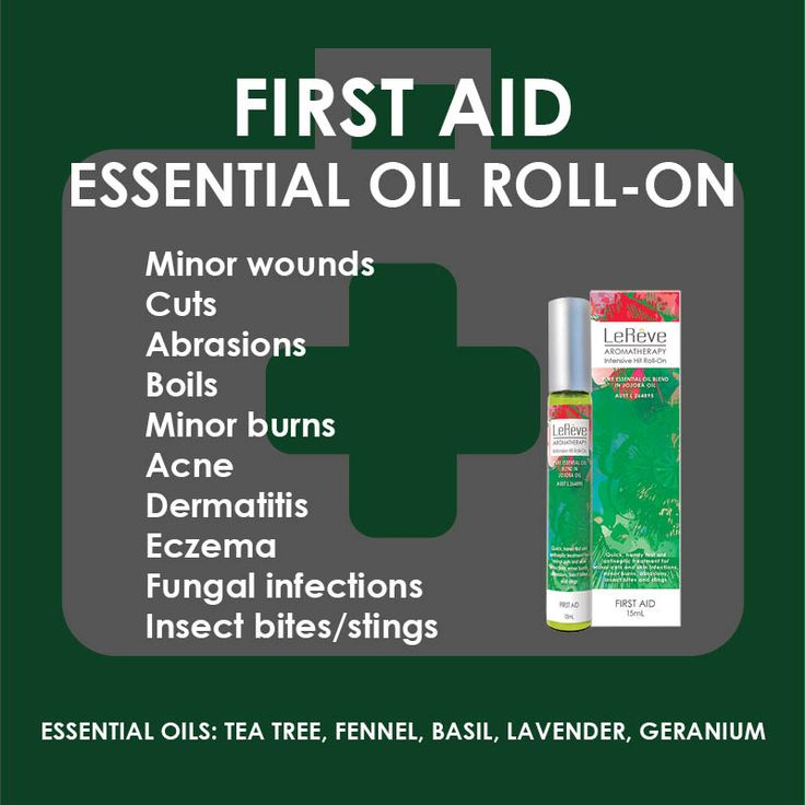 First Aid Essential Oil Roll-On - assists in managing minor wounds, cuts, abrasions, boils, minor burns, acne, dermatitis, eczema, fungal infections, insect bites and stings and more.