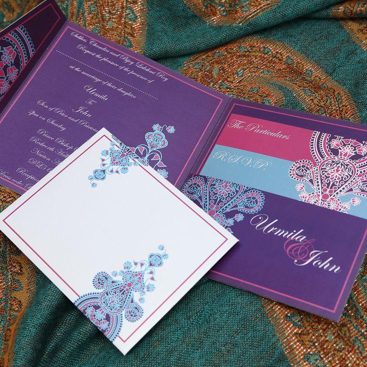 indian wedding hindu invitations%0A Bespoke Indians and paisley pocketfold wedding invitation by Graphic Embers    Wedding Ideas Indian Fashion   Pinterest   Invitations  Bespoke and  Wedding