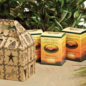 Sunset Trio Gift Set  Features three of our favourite party pleasers nestled in a decorative gift box:    Asiago Cheese & Spinach Dip  Garlic Jalapeno Cheese Ball  White Chocolate Cherry Vanilla Dessert Mix