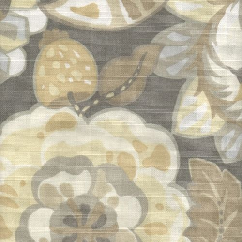 Buyfabrics.com: Naive Floral Pewter Drapery Fabric by Robert Allen
