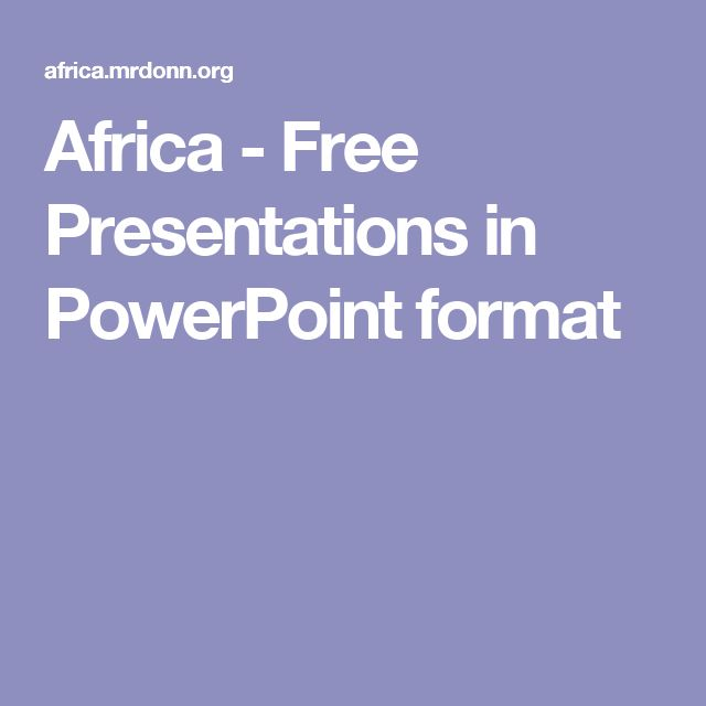 Africa - Free Presentations in PowerPoint format