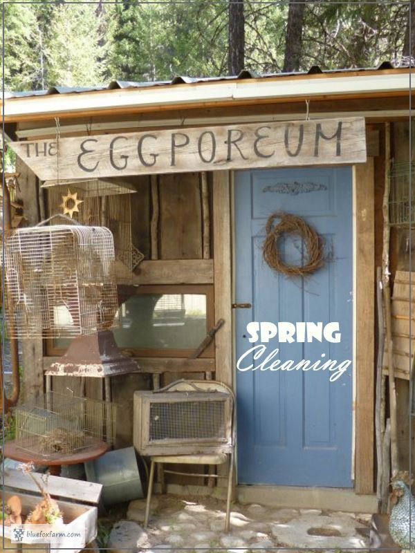 The Eggporeum - Spring Cleaning... Rustic Garden Shed | Chicken Coop