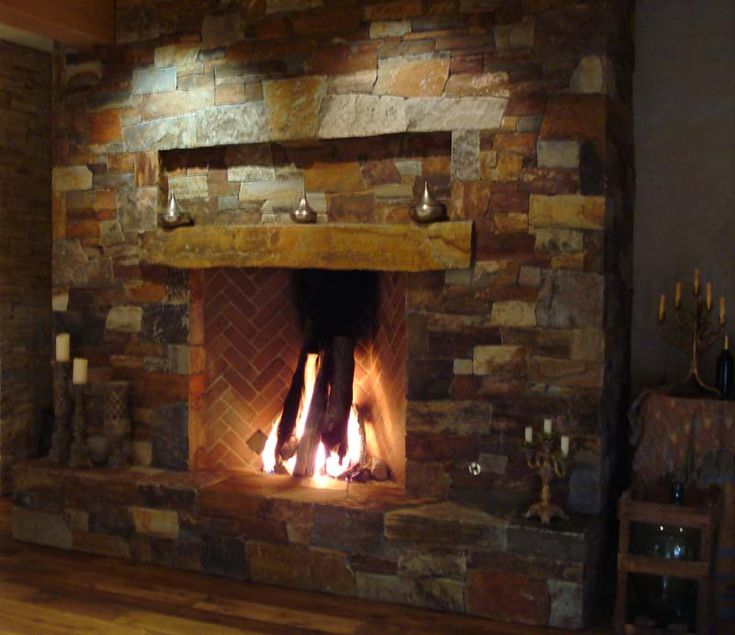 17 best images about rock fire place on pinterest family for Wood burning fireplace construction
