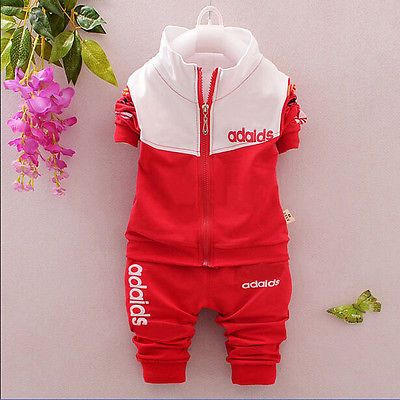 Hot newborn baby boy/girl clothing sets tracksuit suit Long Shirt+Pants 0-2 old