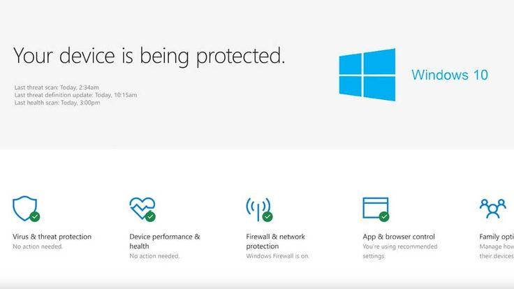 Microsoft Defender Security Center macht Windows 10 zur Festung