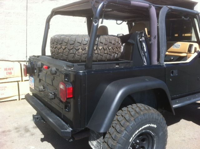 Jeep Spare Tire Relocation Jeep Jeep Pinterest