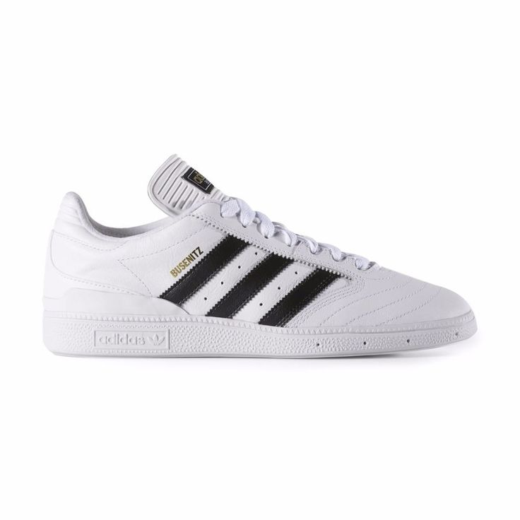 Adidas - Busenitz | F37349 - New - Mens Skate Shoes | White / Black / Gold