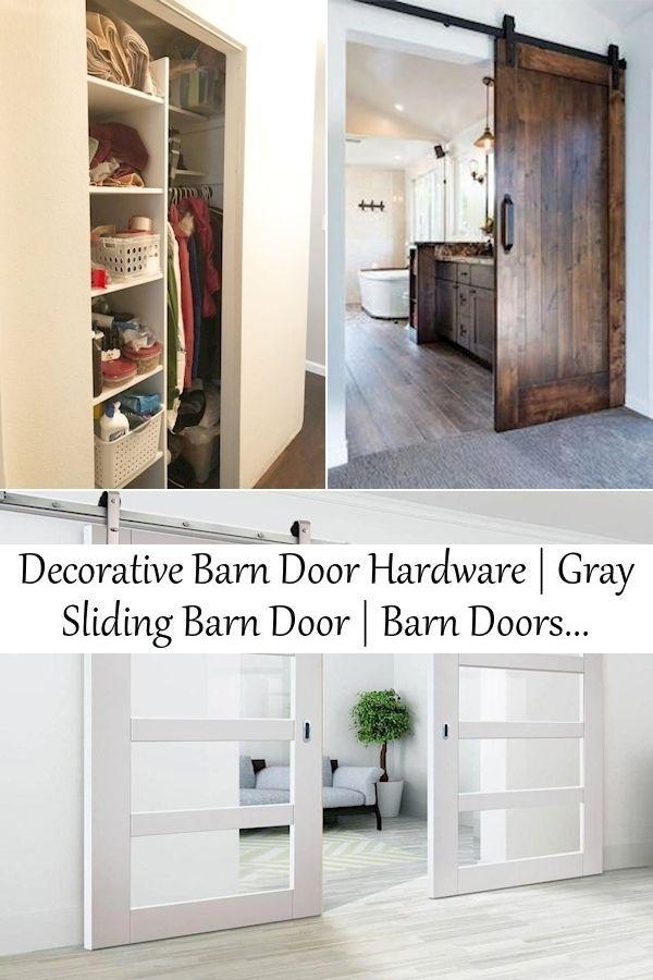 Decorative Barn Door Hardware Gray Sliding Barn Door Barn Doors For Home Use In 2020 Interior Barn Doors Barn Door Bifold Barn Doors