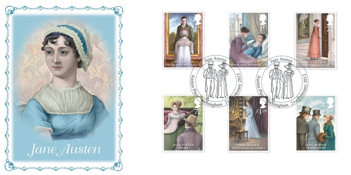 Jane Austen 2013 Stamps - via British First Day Covers