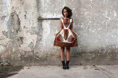 Afrikanisch Kleid Addis Abeba - Ecru von KOKOworld auf DaWanda.com                                                                                                                                                                                 Mehr