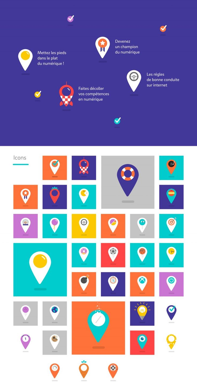 Identité visuelle La place numériqueGraphéine – Agence de communication Paris Lyon
