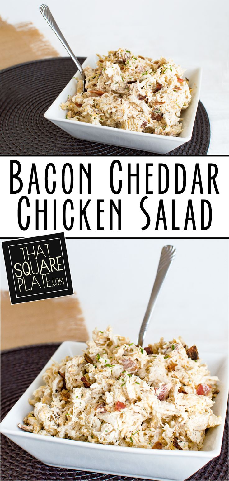 Chicken salad with an indulgent mix of cheddar, bacon, and chives throughout.