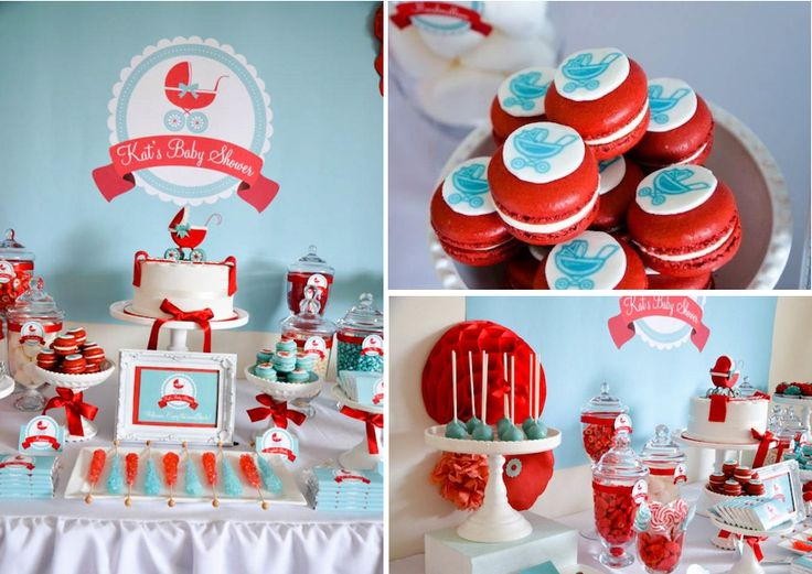 Keeping The Babyu0027s Gender A Secret? Try A Red And Aqua Baby Shower Color  Scheme