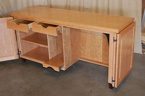 Sewing Cabinet Plans Table Machine Storage Woodworking