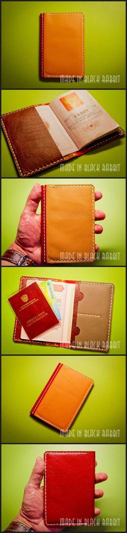 Обложка на паспорт с доп.отделами для карт и пенсионного. Сделано на заказ. Очень мягкая кожа разных цветов. Прошивка вощеной нитью 1 мм. #walletlong #натуральнаякожа #ручнаяработа #ярмаркамастеров #leather #leatherwallet