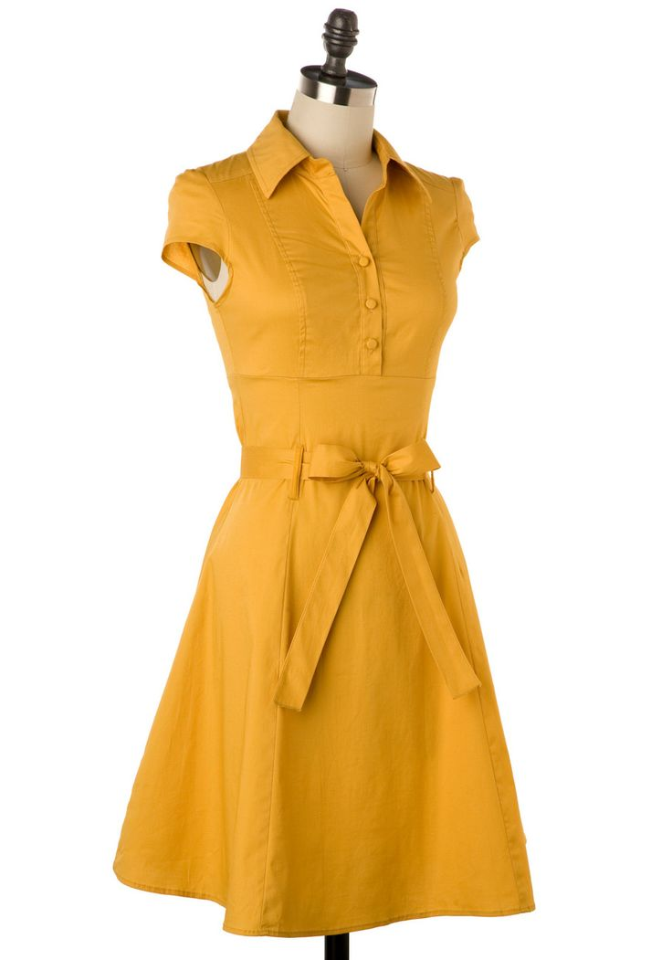 Want Want Want this Soda Fountain Dress in Ginger(this color), Ice, Papaya, Grape, Cherry. All the colors. All of them. $44.99 on Modcloth