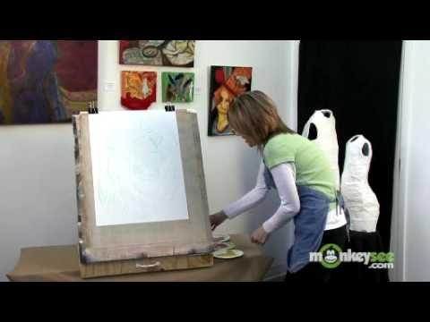 ▶ Basic Acrylic Painting - Canvas Prep and Undercoat - YouTube