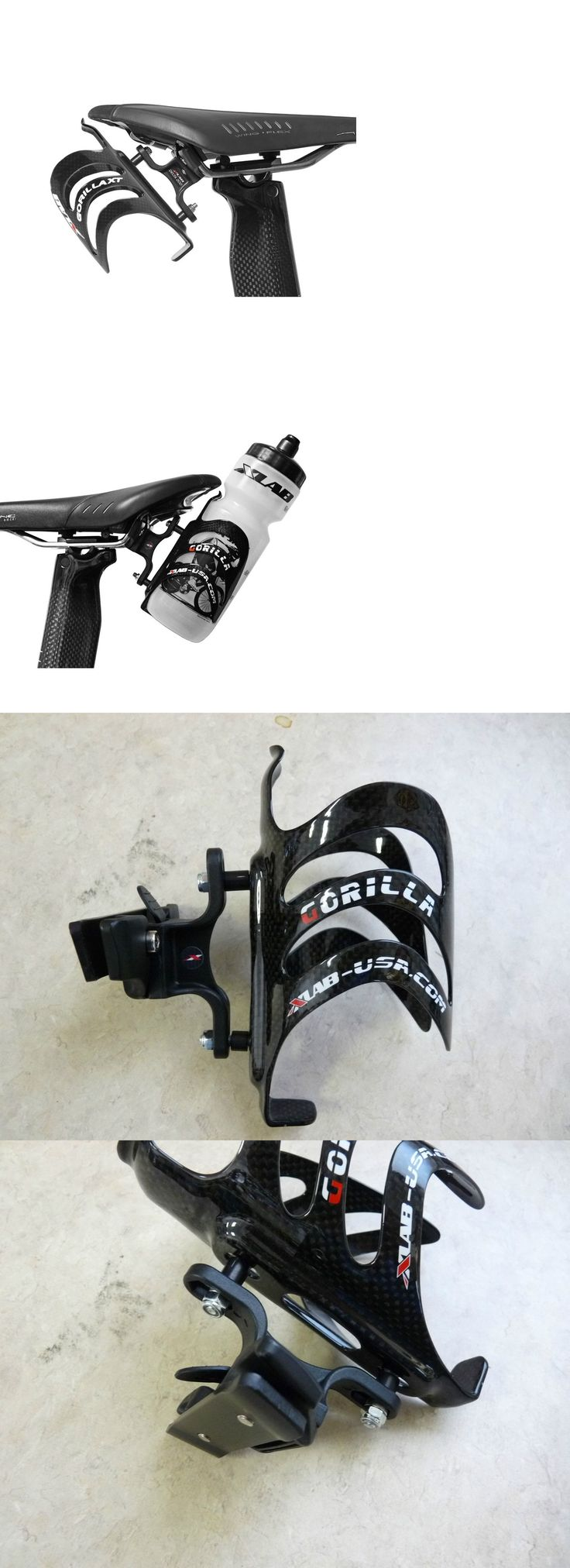Water Bottles and Cages 62132: Xlab Delta Wing 200 Rear Bicycle Water Bottle Cage-Black-Mount-Carbon-New BUY IT NOW ONLY: $79.95