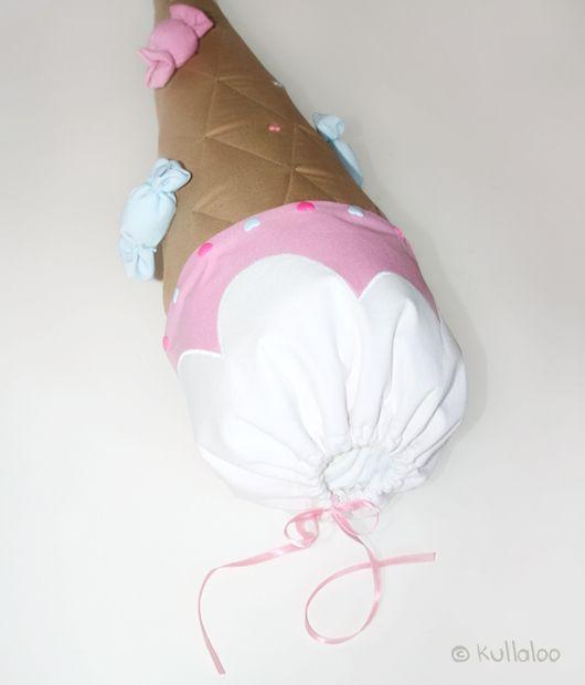 Schultüte selber machen: Eistüten-Look - Zuckertüte für Mädchen