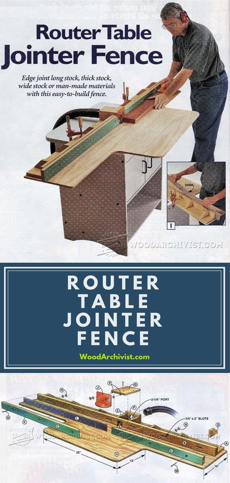 Router Table Jointer Fence - Router Tips, Jigs and Fixtures | WoodArchivist.com