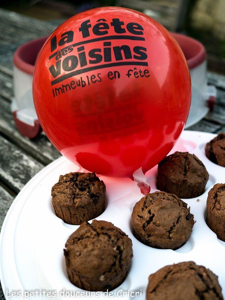 Muffins au chocolat et au muesli pour la fête des voisins #Concours Inside