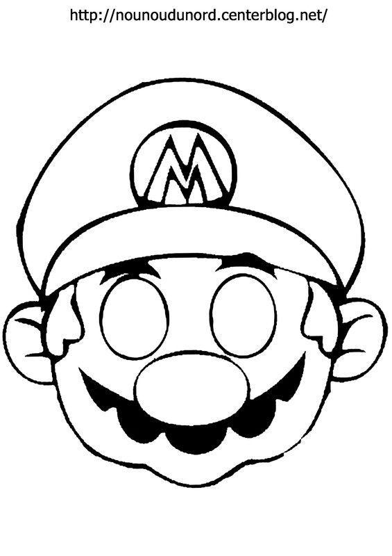 Mario-Maske zum Drucken Druckdateien: .acrobat.c #