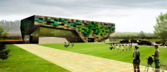 Gimnasio Osorno College. Colaboración de los arquitectos: Jenniffer Santana, Mario Barrientos.