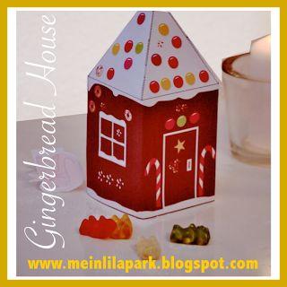 Free printable DIY gingerbread house No2 - ausdruckbares Lebkuchenhaus - freebie | MeinLilaPark – DIY printables and downloads