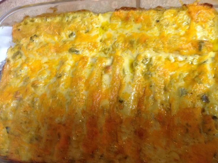 Ganado Cafe Green Chile Enchiladas