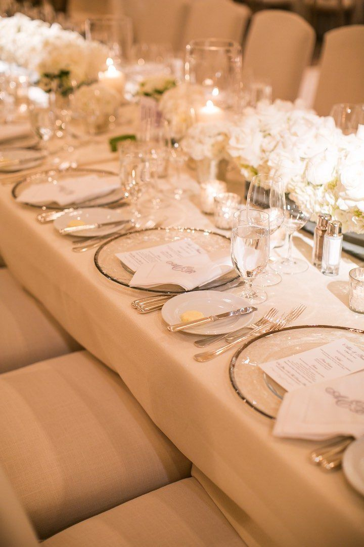 long table setup wedding reception%0A Glamorous Laguna Beach Wedding at the Montage  Wedding Reception  CenterpiecesWedding Table SettingsWedding