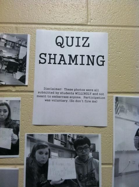"This teacher who started ""quiz shaming"":"
