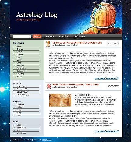 Astrology Weblog WordPress Themes by Di
