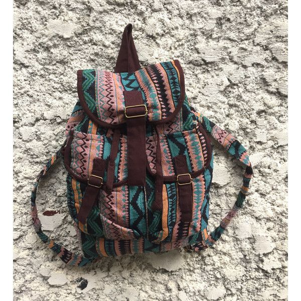 Tribal Aztec Ethnic festival backpack patterns fabric Drawstring bag... ($23) ❤ liked on Polyvore featuring bags, backpacks, print backpacks, boho backpack, pink backpacks, cotton drawstring bags and cotton drawstring backpack