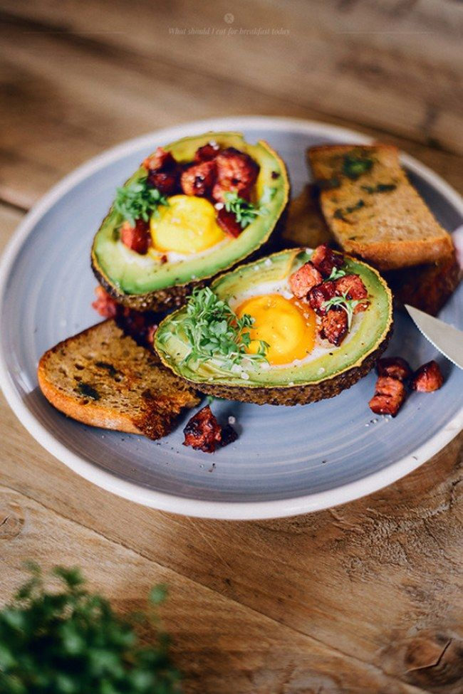 Avocado Baked With Eggs. For more ideas, click the picture or visit www.sofeminine.co.uk