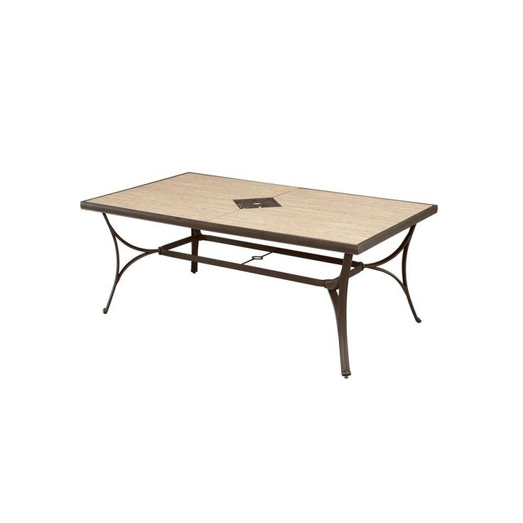 Hampton Bay Pembrey Rectangular Patio Dining Table