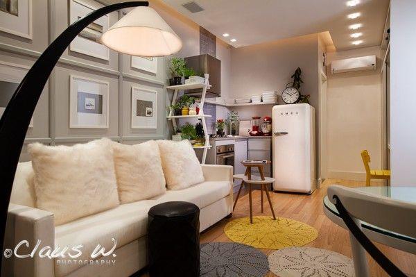 tapete - cozinha integrada ao estar - Casa Cor SC