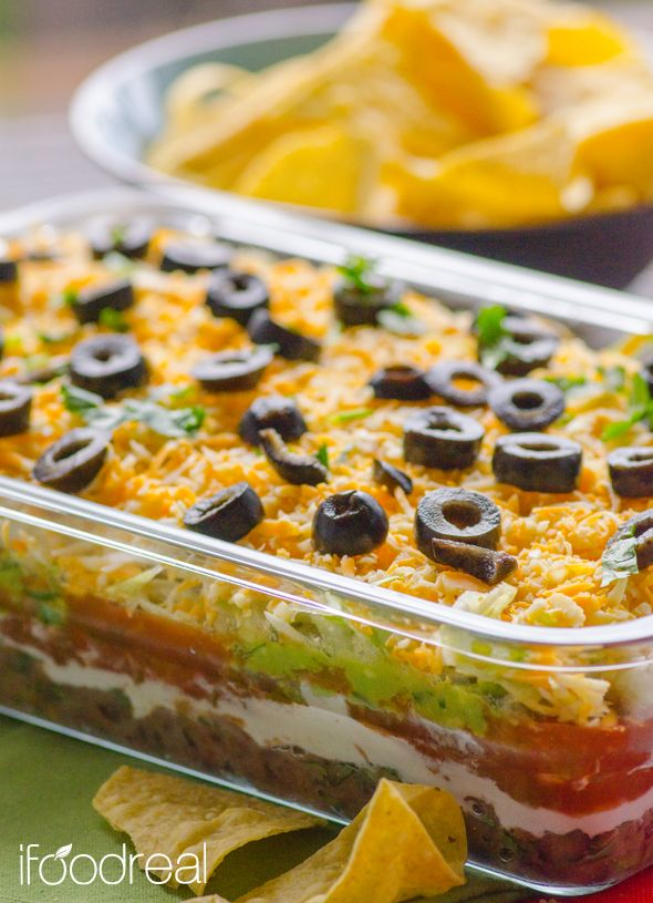 about 7 Layer Dip Recipe on Pinterest | Layer dip, 7 layer bean dip ...