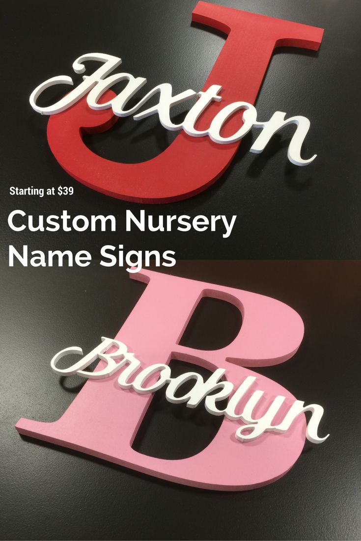 Custom Nursery Name Signs