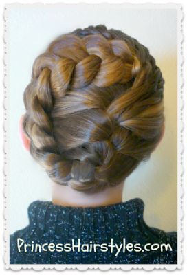 Updo with braids hairstyles