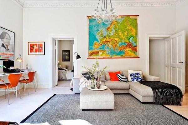 Sofá gris. Inspiración para la #casamya | Decorar tu casa es facilisimo.com