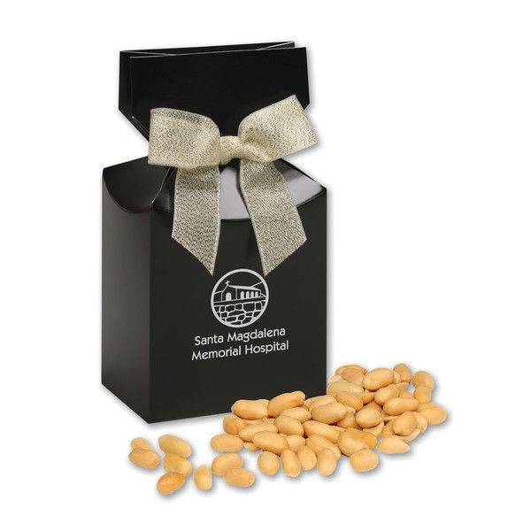 Our new black gift boxes lend a sophisticated touch to our gourmet treats. And those crunchy Choice Virginia Peanuts aren't bad either...