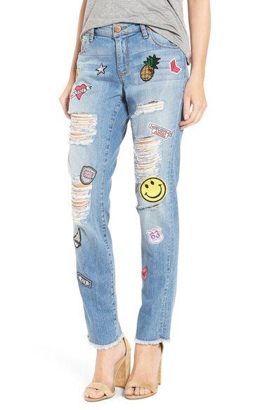 STS Blue 'Tomboy Skinny' Patched Jeans (West Topanga) available at #Nordstrom