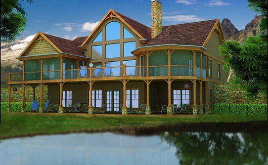 1000 ideas about lake house plans on pinterest house plans lake houses and floor plans - Lakefront home designs ...
