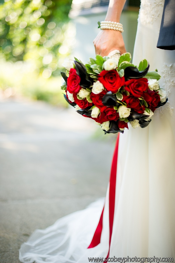 red gold and white wedding ideas%0A Red and Black Wedding by Blossoming Blessings